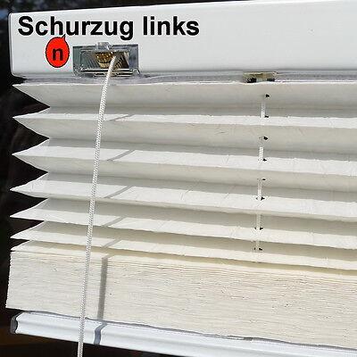 Punctual Plissee Jalousie Maßanfertigung Breite 75 Cm X Höhe 130 Cm Farbe 504 Weiß Crush Blinds & Shades