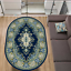 Teppich Oval 120 x 170 Blau Klassisch Orientalisch mit Ornament Wohnzimmer Flur
