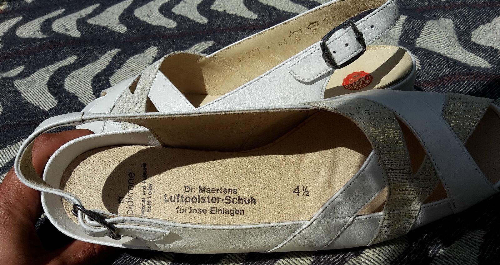 Dr. Größe Martens - Goldkrone - Größe Dr. 4,5 - 37 -weiß - gold - Sandale 317fb1