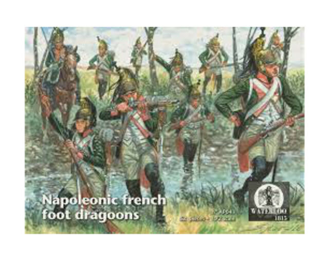 Waterloo 1815 - Napoleonic French Foot Dragoons - 1:72