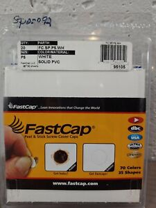 Fastcap-Peel-amp-Stick-Cover-FC-SP-P5-WH-Screw-Cover-Caps-Size-P5-Solid-PVC-3