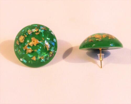 CG6116 con piezas de ORO COPOS /& Concha Pendientes de resina acrílica.