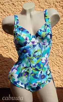 Floraler Badeanzug mit Bügel Gr. 44E von NATURANA NEU! Sommer, Strand und Sonne!