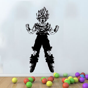 LARGE Dragon Ball Z Goku Saiyan Series Mural Wall Art Free - Dragon ball z wall decals