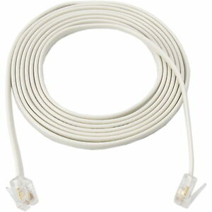 10m 30ft rj11 6p4c cable new telephone phone adsl modem fax line cord 4 pin tel ebay. Black Bedroom Furniture Sets. Home Design Ideas