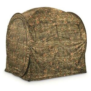 GUIDE-GEAR-Shooting-Hunting-Blind-Hay-Bale-Large-Window-Backpack-Carry-Case