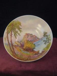 Large Royal Worcester Fruit Bowl Decorated Mount Orguiel Castle ...