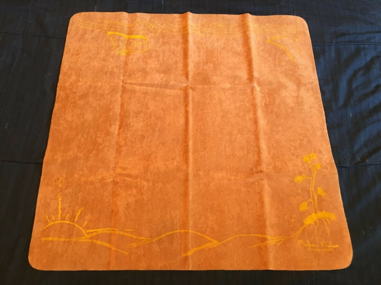 SpellGround Seasons Autumn Limited Edition PlayMat Light Brown w  Yellow Ink NEW