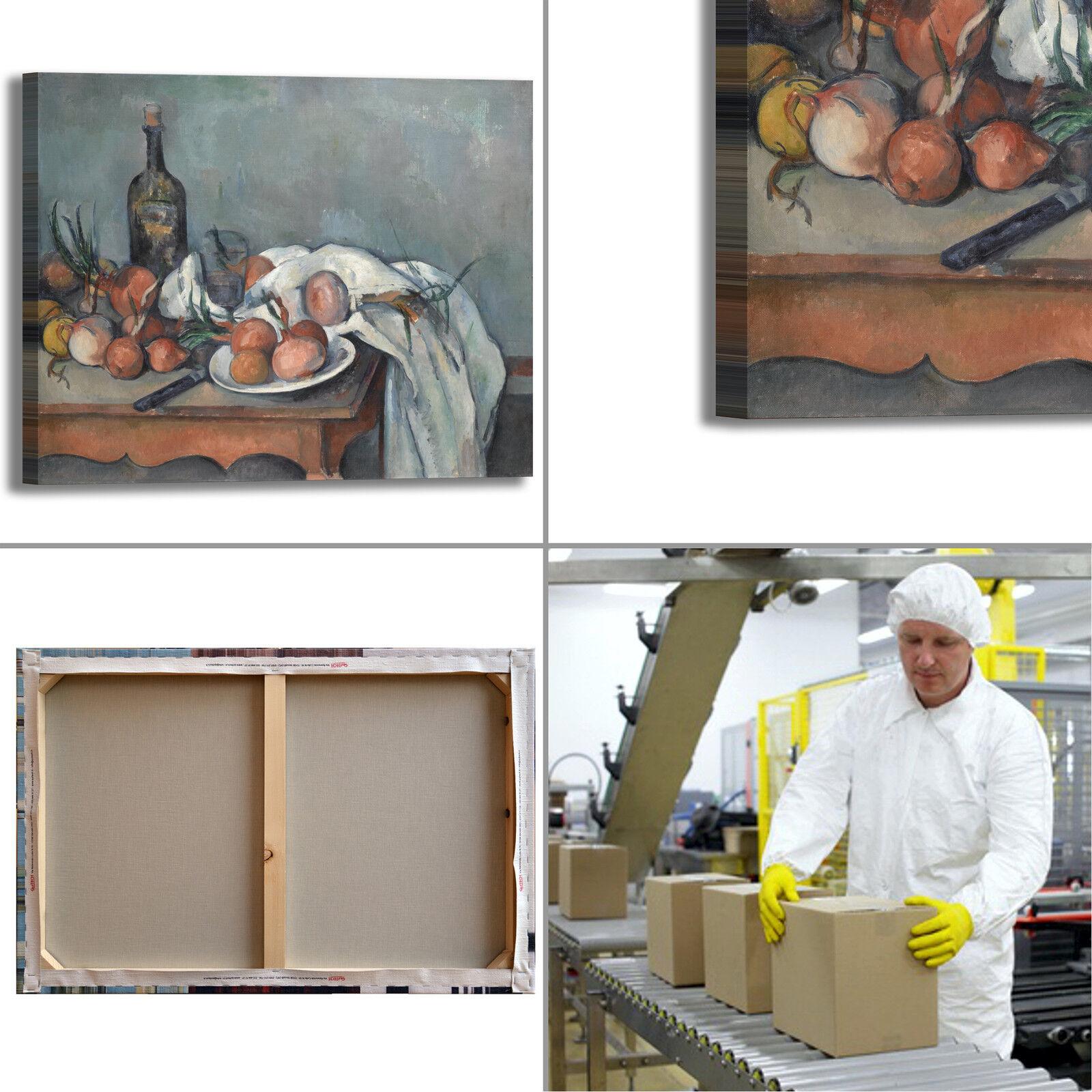 Cezanne natura morta 68 design quadro stampa tela dipinto dipinto dipinto con telaio arrossoo casa f8240b