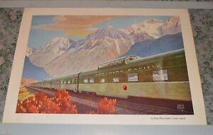 OLD-Leslie-Ragan-Northern-Pacific-Railroad-Poster-Vista-Dome-Passenger-Car