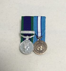 Court-Mounted-Miniature-Medals-UN-Cyprus-GSM-Northern-Ireland-CSM-Mini