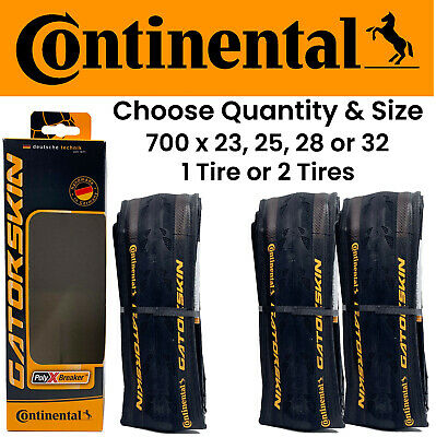 Continental GatorSkin DuraSkin Bicycle Tyres700 x 28CTwin Pack 2 Tyres