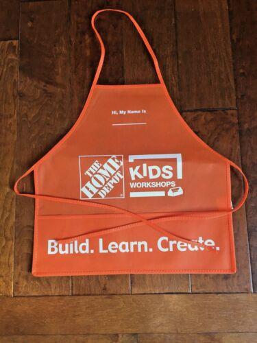 Homedepot kids workshop apron NEW