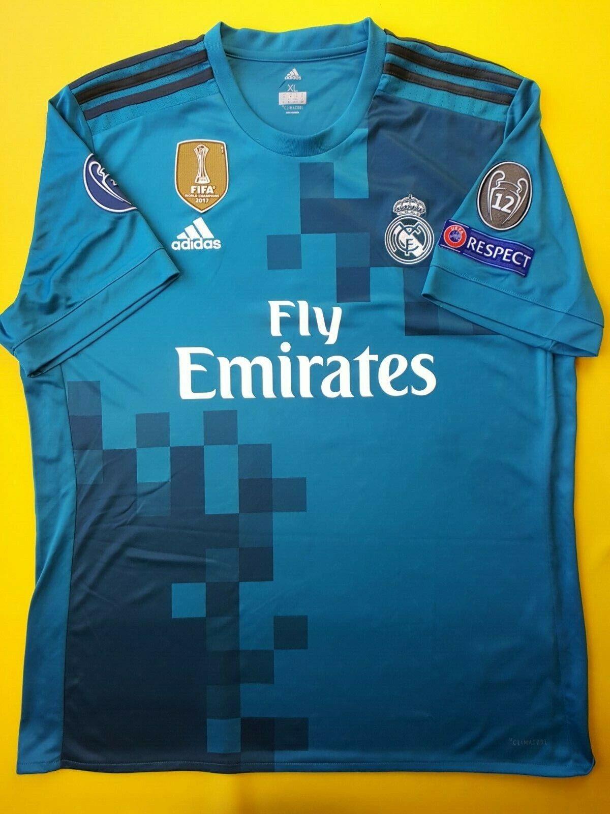 8c4e3eb5a 4.9 5 Real Madrid third jersey XL 2018 shirt soccer Adidas football ig93