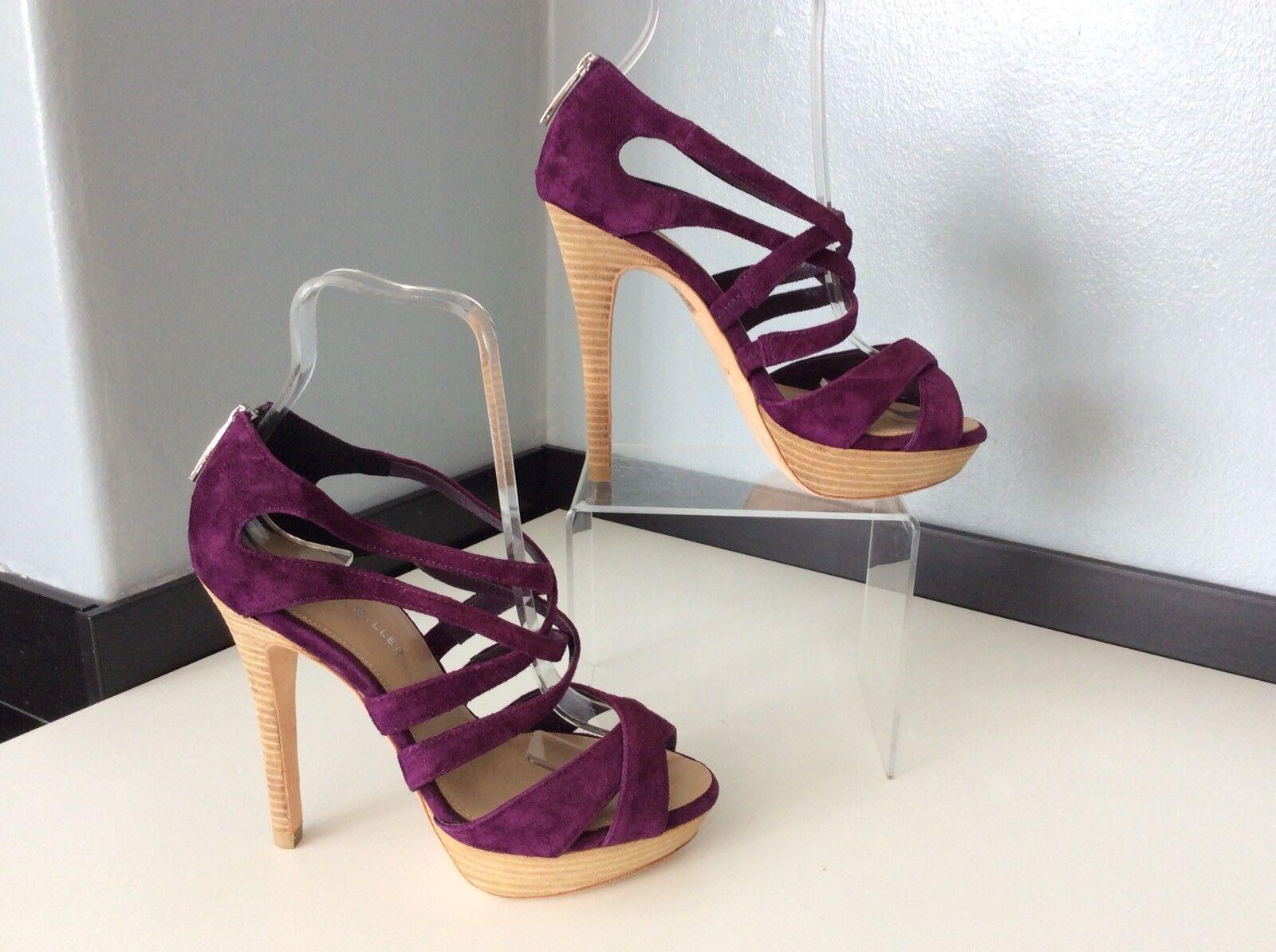 Karen Karen Karen Millen Zapatos NUEVOS ANTE MORADO Tacones Peep Talla 36 Reino Unido 3  envío rápido en todo el mundo