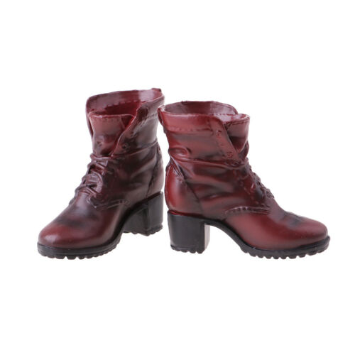 """1//6 Scale Soldier Combat Boots Shoes for Female 12/"""" Action Figure Hot Toys"""