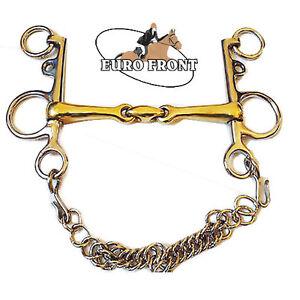HORSE BITS Double jointed PELHAM BITS Pelham Bit Lozenge Mouth Copper Mix