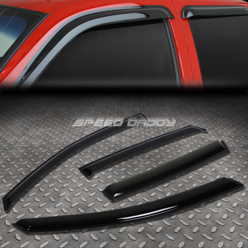 FOR 02-06 FOCUS SEDAN//5D SMOKE TINT WINDOW VISOR//WIND DEFLECTOR VENT RAIN GUARD