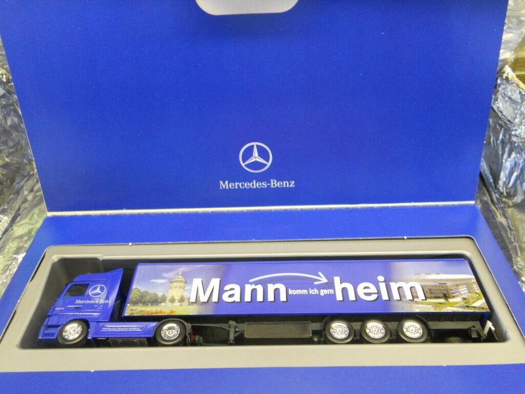 Herpa 275613 Mercedes Actros Curtain Curtain Curtain Canvas Semitrailer May Market Mannheim cdbf5c