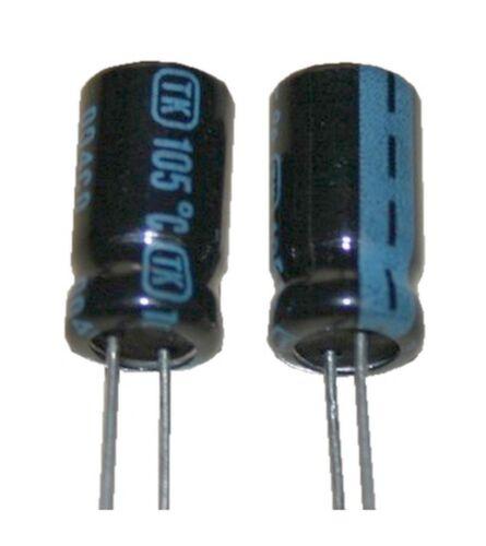 Elko Elektrolytkondensator Kondensator 330uF 16V 105°C 2 Stück 0037