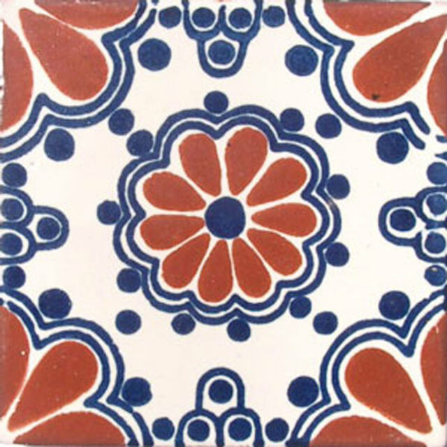 MEXICAN TILES CERAMIC HAND MADE SPANISH INFLUENCE TALAVERA MOSAIC ART C#002