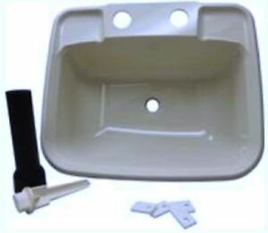 Rv Bathroom Sink | Details About Rv Boat Mobile Home White Bathroom Lavatory Sink Kit Stopper Tail Piece