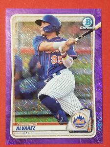 2020-Bowman-Chrome-Francicso-Alvarez-Prospect-Purple-Shimmer-NY-Mets-FREE-SHIP