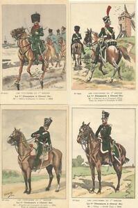 Cdt-BUCQUOY-UNIFORMES-1er-EMPIRE-Serie-67-Le-1er-CHASSEURS-a-cheval-fin