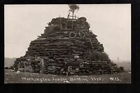 Workington Jubilee Bonfire 1935 - real photographic postcard
