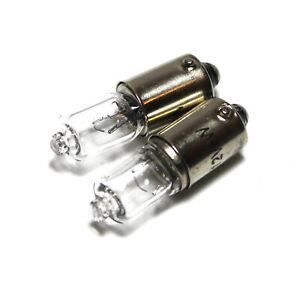2x-BAX9S-H6W-433c-6w-Bombillas-De-Xenon-Luz-Lateral-Clara-12v