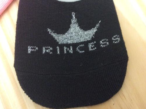 Disney Women/'s 3-Pk Princess Icon Liner Socks Sock Size 9-11