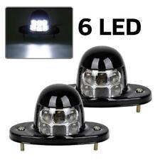 Item 1 6000k Xenon White 12 Smd Led Drl Bolt On Car Truck License Plate Light Universal
