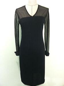 ed8d6fe33cb Vintage 90 s Onyx Nite dress womens black evening elegant french ...