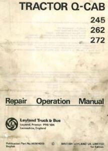 leyland tractor 245 262 272 q cab workshop service manual ebay rh ebay com au Case IH Tractors Leyland Engine