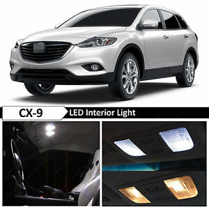 13x white interior led light package kit for 2007 2016 mazda cx 9 cx9 tool ebay. Black Bedroom Furniture Sets. Home Design Ideas