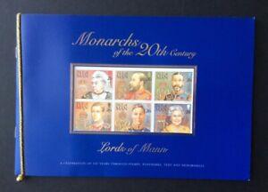 Isle-von-Mann-1999-Britische-Monarchs-Souvenir-Buch-MNH-Sg-MS844