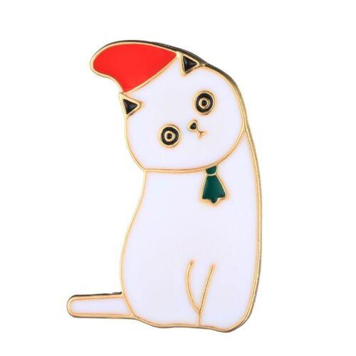 """Cero quilates broche prendedor pin /""""weihnachtskatze/"""" Xmas-gato Navidad"""