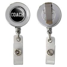Coach - Team Sport Retractable Reel Chrome Badge ID Card Holder