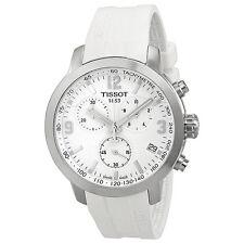 Tissot PRC 200 Chronograph White Dial White Rubber Mens Watch T0554171701700