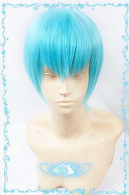 559 Kill la Kill Inumuta Houka Short Ice Blue Cosplay Wig free wig cap