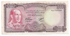 Afghanistan 1000 1.000 Afghanis 1967 Vf P 46 A-afficher Le Titre D'origine Avoir Une Longue Position Historique