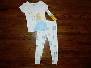 Rapture Girl's Carter's White Princess & Castles Pajamas Size 2t-nwt Refreshment Clothing, Shoes & Accessories