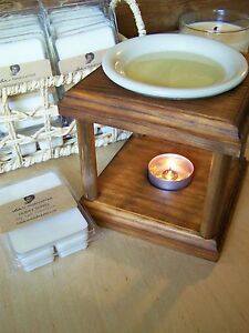 Image is loading Handcrafted-Wooden-Tart-Warmer-Wax-Melter-Oil-Burner-
