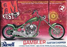 PLASTIC KIT:  REVELL 85-7318:  GAMBLER CUSTOM CHOPPER...1/12th SCALE