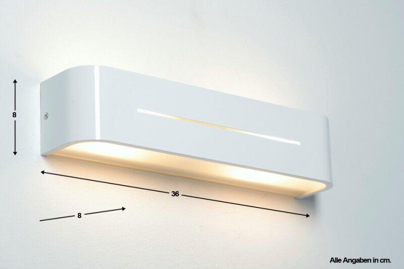 Up Down Wand Leuchten Design Wohn Schlaf Raum Flur Dielen Lampen Aluminium weiß