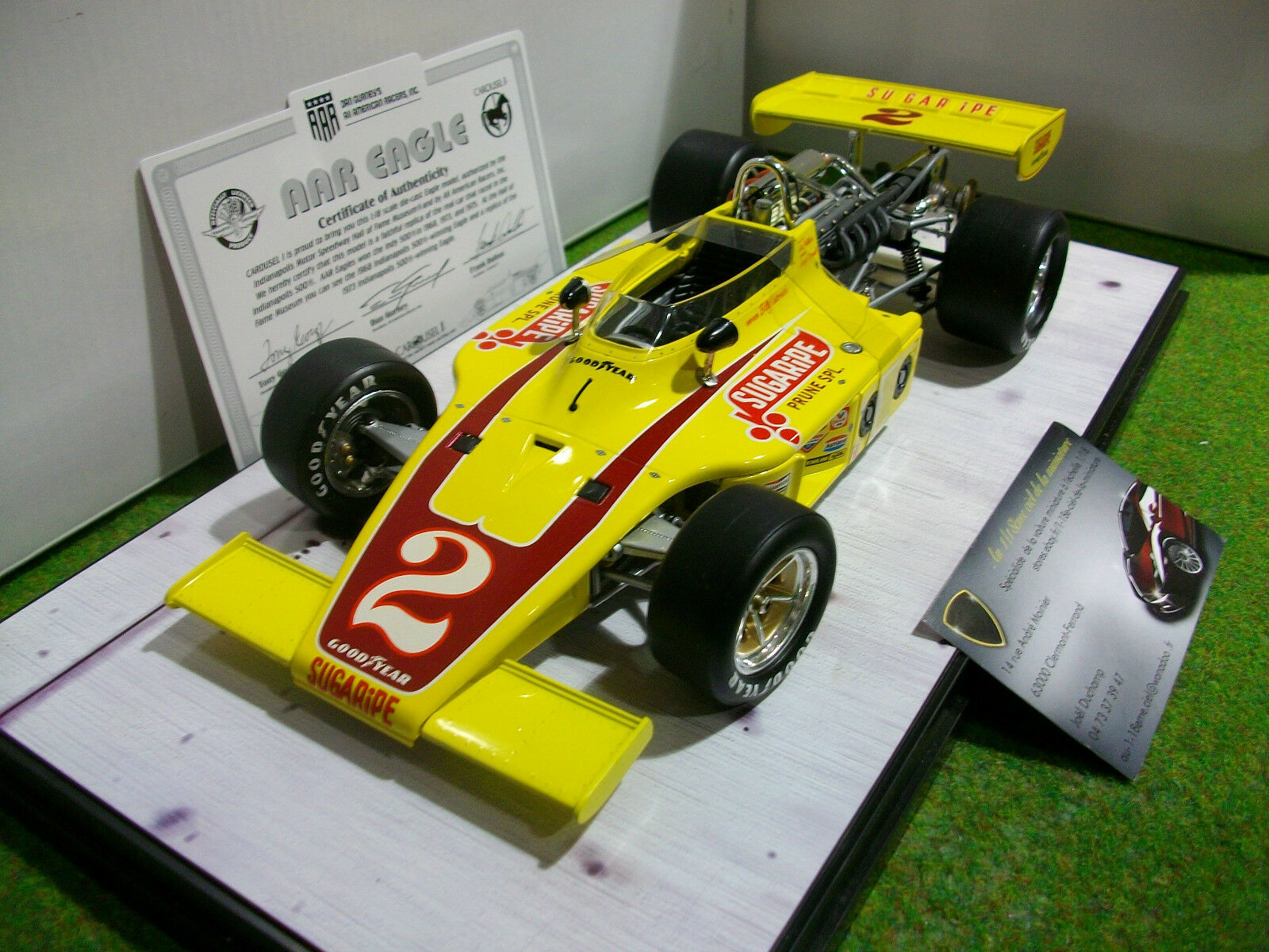 AAR EAGLE Indy car 1973 jne 1 18 CAROUSEL 1 4702 voiture miniature collection
