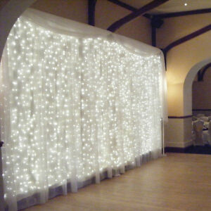 3Mx3M-300-LED-Curtain-Light-Christmas-Party-Wedding-Deco-Lamp-Outdoor-Cool-White