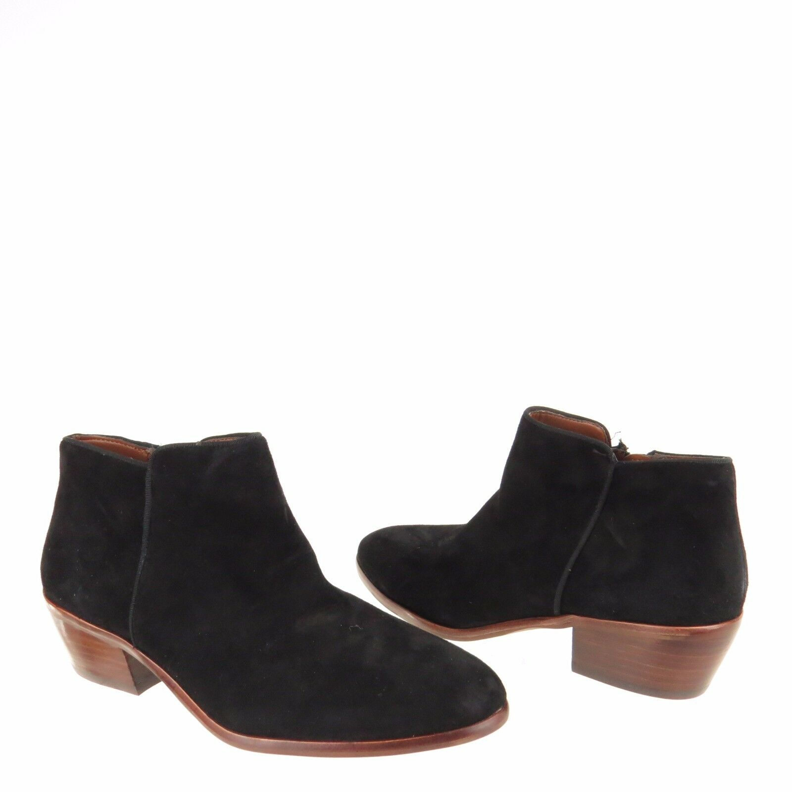 Women's Sam Edelman Betty Betty Betty shoes Black Suede Ankle Booties Size 7.5 W NEW 260b1f