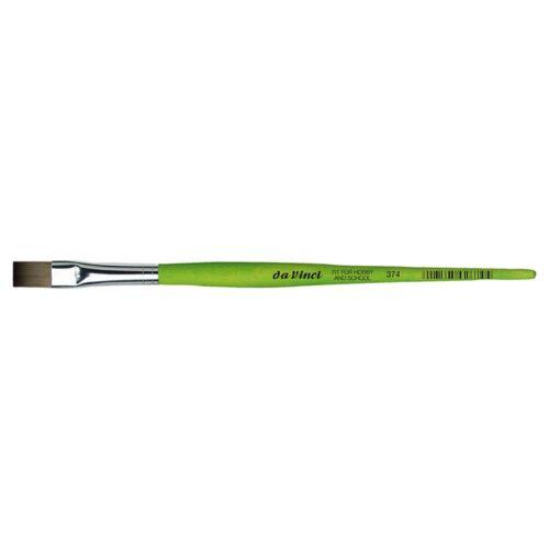 Da Vinci Hobby and School Green Painting Brush Flat Size 4