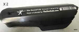 2 pcs le tentlab Deuce #2 0.6 OZ environ 17.01 g Ultralight Backpacking Truelle Noir thetentlab